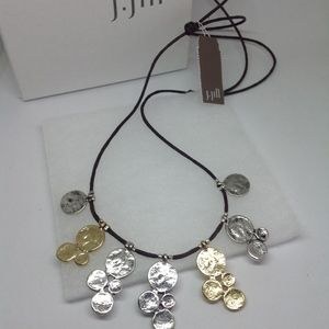 J. Jill Stylish Gathered Coins Necklace